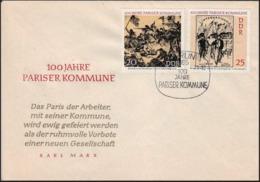 DDR -  FDC -  100 Jahre Pariser Kommune - FDC: Buste