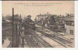 Saintes(Charente Maritime) Gare De L'Etat,arrivée Du Rapide Bordeaux-Paris-Nantes/Train,Locomotive(Non Vue Sur Delcampe) - Saintes