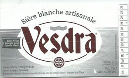 étiquette Décollée Bière Vesdra Blanche Brasserie ? - Beer