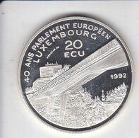 MONEDA DE PLATA DE LUXEMBURGO DE 20 ECU DEL AÑO 1992 PARLAMENTO EUROPEO  (COIN) SILVER-ARGENT - Lussemburgo