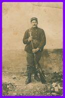 Cp Photo - Portrait D'un Militaire - Baïonnette - Militaria - Oorlog 1914-18