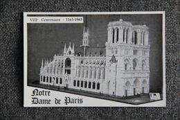 VIII ème Centenaire ,Maquette De Notre Dame De PARIS, Réalisé Par Antoine GOMEZ En Os, échelle 1/58. - Notre-Dame De Paris