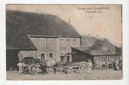 Gungweiler/Gungwiller( Bas Rhin) Habitations Et Attelages (en Allemand) ,envoyée De Drulingen , 1923 - Sonstige Gemeinden