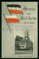 Pohlheim Holzheim Flagge Kirche Und Rathaus Patriotika Fahne LK Gießen LangGöns - Andere