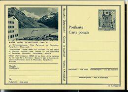 Carte Illustrée Neuve N° 411. - 48/50.  -- A-6794.  HOTEL SILVRETTASEE ( 2040 M ) - Entiers Postaux