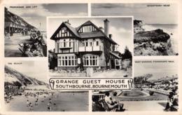 R442489 Grange Guest House. Southbourne. Bournemouth. The Beach. Hengistbury Head. C. Richter. RP. Multi View. 1954 - Postales