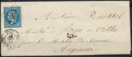 Lettre  Du 22/12/1867 De Fresnay-S-Sarthe  (71) GC 1585 Indice 3 Sur N°22 - Postmark Collection (Covers)