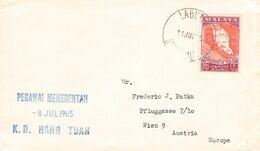 MALAYA - SHIPMAIL 1965 LABUAN - VIENNA /AS101 - Malayan Postal Union