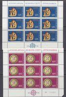 Europa Cept 1976 Yugoslavia 2v 2 Sheetlets ** Mnh (49686E) ROCK BOTTOM - Europa-CEPT