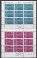 Europa Cept 1971 Yugoslavia 2v 2 Sheetlets ** Mnh (49686H) GALAXY PRICE - 1971