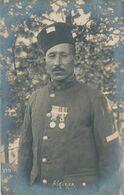 CP : Portrait Militaire - Décorations - Médailles - 9ème Tirailleur Algérien (1914/1918) Carte Prisonnier - (BP) - War, Military