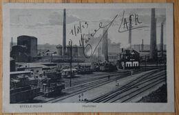 Essen - Steele-Ruhr - Hochöfen - Hauts Fourneaux - Animée - Trains - Inhabituel / Ungewöhnlich - (n°18504) - Essen