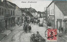 OLD POSTCARD LITUANIA - LIETUVA - KOWNO , STRAßENBILD - ANIMATA PRIMI '900 - U39 - Lithuania