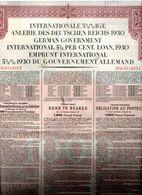 EMPRUNT INTERNATIONAL 5 1/2 % 1930 Du Gouvernement Allemand - Non Classés
