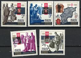 Malta 1966. Mi.Nr. 337/41 Postfrisch **, MNH - Malta