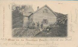 OLD POSTCARD AUSTRIA - TIROLO - SEEFELD - GRUSS VON DER NOERDLINGER HUTTE - ANIMATA - VIAGGIATA 11.08.1900 - U78 - Seefeld