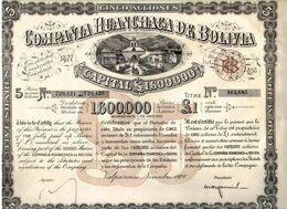 COMPANIA HUANCHACA DE BOLIVIA De 1928 - Mines
