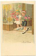 Pauli EBNER - Deux Enfants Sortant De Chez Le Fleuriste - Ebner, Pauli