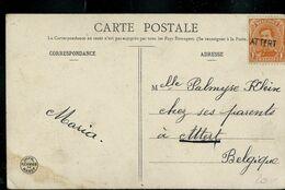 Carte De Voeux  1906 Avec Griffe Oblitérant De ATTERT  (Arlon) - Marcophilie