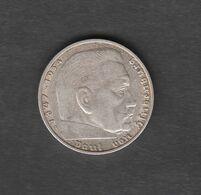 Deutschland Deutsches Reich  2  Mark 1937 A Kursmünze Silber 625  Kupfer 375 - [ 2] 1871-1918 : Impero Tedesco
