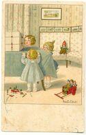 Pauli EBNER - Trois Enfants Regardant Un Paquet Cadeau - Ebner, Pauli
