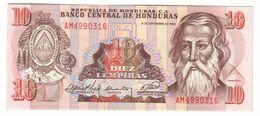 HONDURAS10LEMPIRAS21/09/1989P70UNC.CV. - Honduras