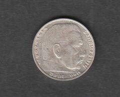 Deutschland Deutsches Reich  2  Mark 1938 G Kursmünze Silber 625  Kupfer 375 - [ 2] 1871-1918 : Impero Tedesco