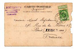 Cachet Fabrique  Belgique Allumettes L'Escaillère Cul Des Sarts  Mr Debétencourt - Gebührenstempel, Impoststempel