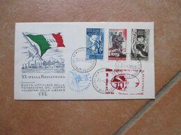 1965 Busta Numerata  Ufficiale Fondazione Corpo Volontari Della Libertà C.V.L. Su Serie XX Ann.Resistenza - 1961-70: Marcofilia