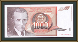 Yugoslavia 1000 Dinar 1990 P-107 (107a) UNC - Jugoslavia