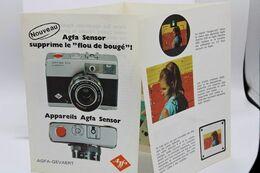 388 - Dépliant Pub - Appareil Photo Agfa Sensor - Optima 200/500-Silette LK - Zubehör & Material