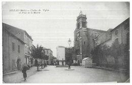 Sigean Clocher De L' Eglise Et Place De La Mairie - Sigean