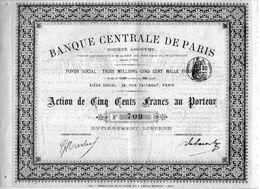 BANQUE CENTRALE DE PARIS - Banque & Assurance