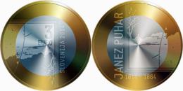 Slovenia 2014 3 Euro 200th Anniversary Of The Birth Of Photographer Janez Puhar (LD1) - Slovenia
