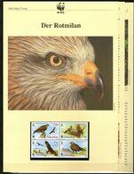 1996 Gibraltar WWF Rotmilan 4 ** + 3 Blätter Beschreibung - Neufs
