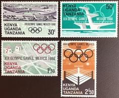 Kenya Uganda Tanzania 1968 Olympic Games MNH - Kenya, Oeganda & Tanzania