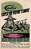 """CPSM à Système Publicitaire Publicité Réclame Baromètre """"CODEC"""" Grenouille Frog Frosch Rana Illustrateur (2 Scans) - Werbepostkarten"""