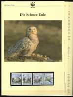 1999 Grönland/Greenland WWF Schnee-Eule/Snowy Owl 4 ** + 3 Blätter Beschreibung - Neufs