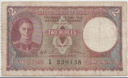 CEYLON P. 31 2 R 1941 F/VF - Sri Lanka