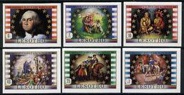 Lesotho 1982, 250th George Washington, Indian, Dog, Horse, 6val IMPERFORATED - George Washington