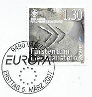 2007 Liechtenstein Mi. 1436 FD - Used Briefstück    Europa: Pfadfinder. - Europa-CEPT