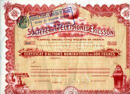Sociètè Des TELEPHONES ERICSSON - Non Classés