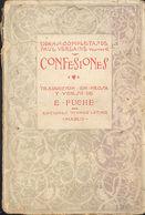 CONFESIONES AUTOR PAUL VERLAINE PRIMERA EDICION MUNDO LATINO 1921   TC12025 A6C1 - Libri, Riviste, Fumetti
