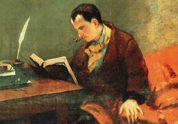 CPM - L - PEINTURE DE GUSTAVE COURBET - PORTRAIT DE BEAUDELAIRE ( DETAIL ) VERS 1848 - MUSEE FABRE - MONTPELLIER - Paintings