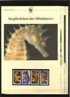2002 Malta  WWF Seepferdchen/Seahorses 4 ** + 3 Blätter Beschreibung - Neufs
