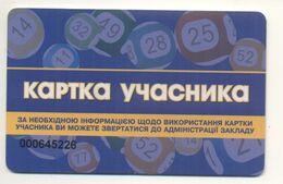 UKRAINE Kyiv Casino Card Of Gaming Machines Plastic Card Not Valid - Casinokarten
