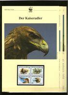 2001 Mazedonien/Macedonia  WWF Kaiseradler/Imperial Eagle 4 ** + 3 Blätter Beschreibung - Neufs