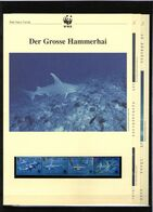 1999 Montserrat  WWF Grosse Hammerhai/Hammerhead Shark 4 ** + 3 Blätter Beschreibung - Neufs