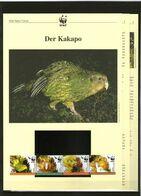 2005 Neuseeland/New Zealand  WWF Kakapo 4 ** + 3 Blätter Beschreibung - Neufs