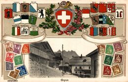 Prägedruck Ak Gryon Distrikt Aigle Des Kantons Waad Um 1910 - VD Waadt